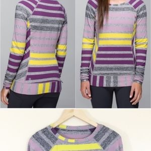 Lululemon Race Your Pace LS  12 berry pullover